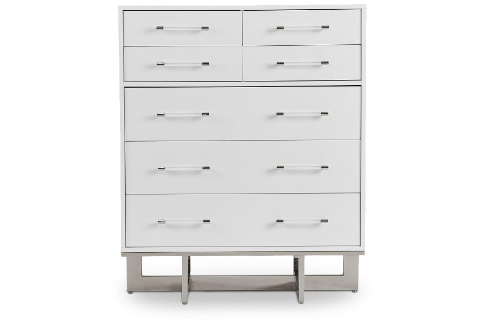 Cortina White Large Drawer Chest, One/size (1)