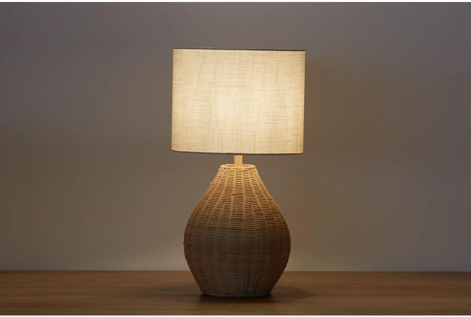 Rattan Beige Rattan Table Lamp