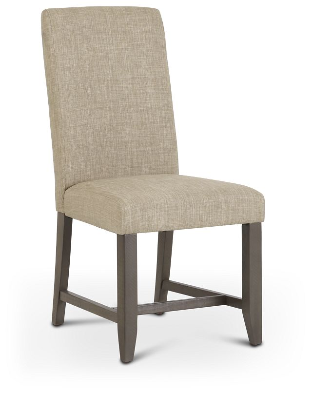 Taryn Light Taupe Upholstered Side Chair (1)