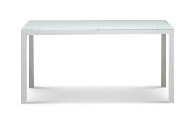 """Lisbon2 White 60"""" Rectangular Table (0)"""