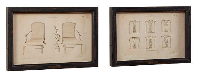 Chair Print Set Of 2 Black Framed Wall Art