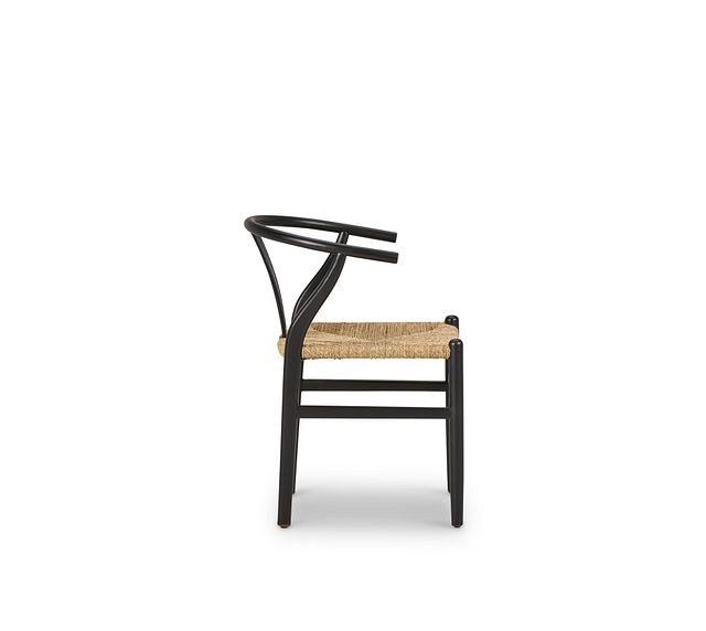 Moya Black Wood Side Chair (2)
