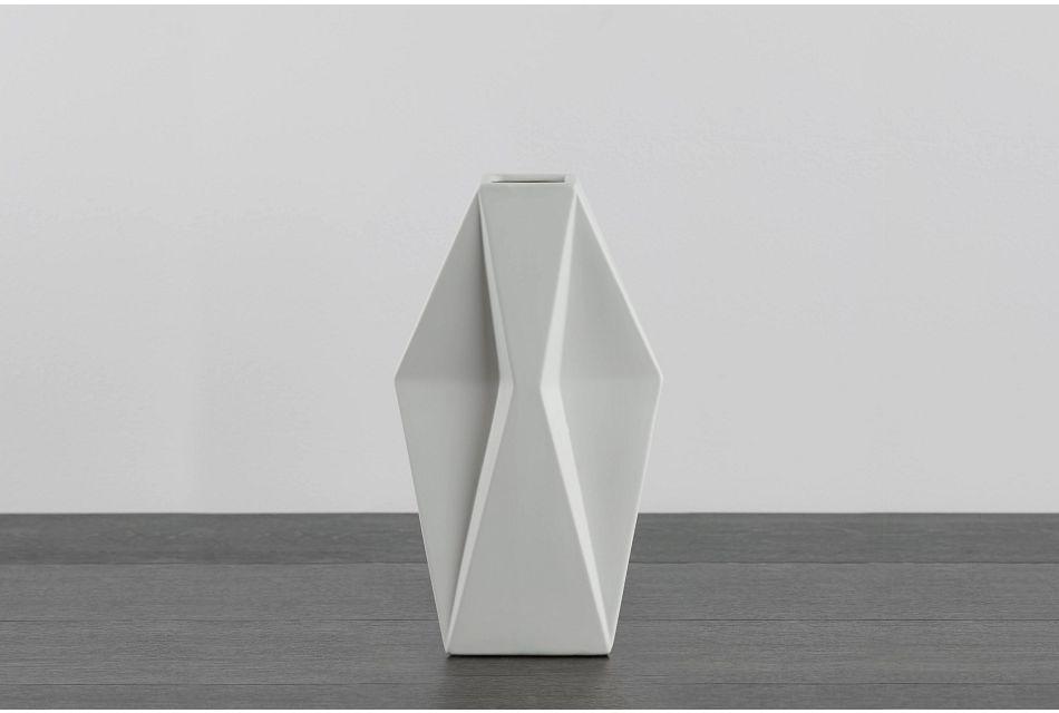 Wallis White Small Vase