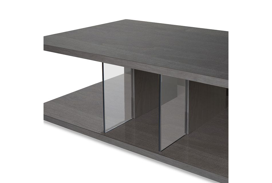 Athena Dark Gray Rectangular Coffee Table