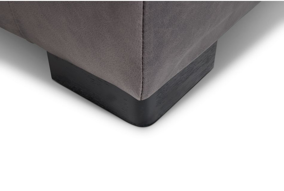 Bohan Black Leather Large Two-arm Sectional