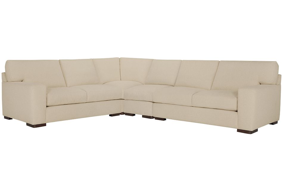 Veronica Khaki Down Large Two-arm Sectional