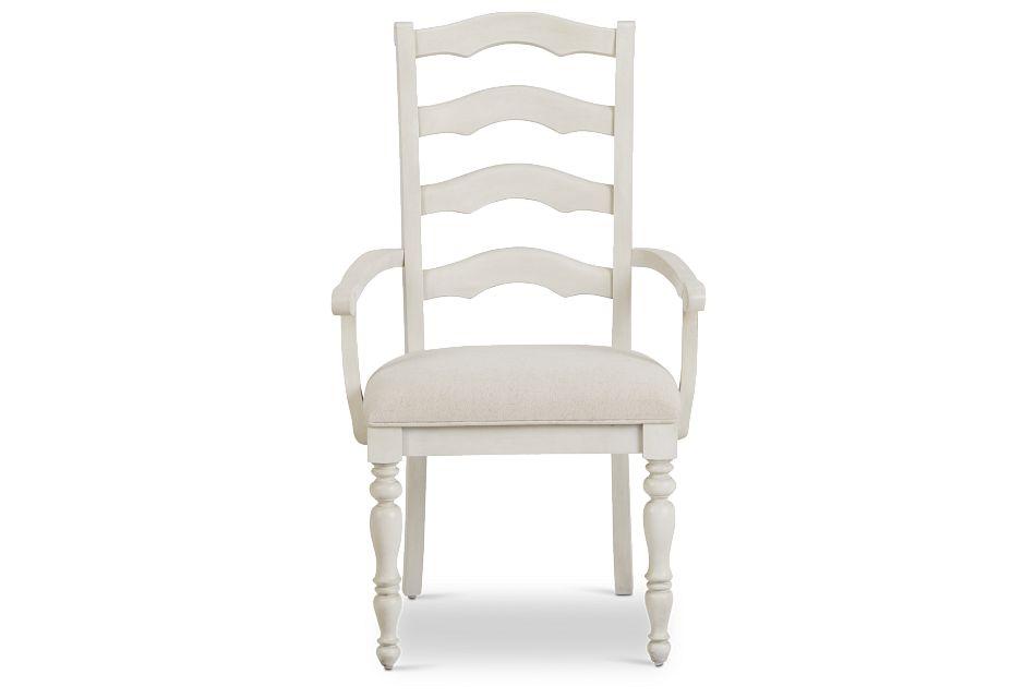 Savannah Ivory Wood Arm Chair,  (3)