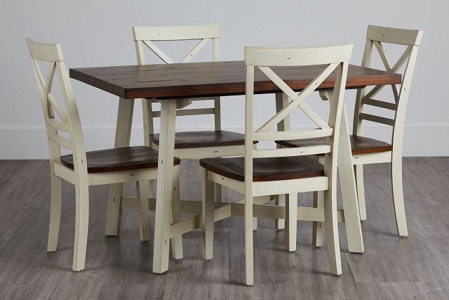 Amelia Two-tone Rect Table & 4 Chairs (0)