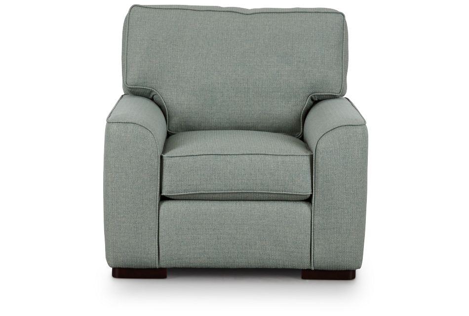 Austin Green Fabric Chair,  (3)