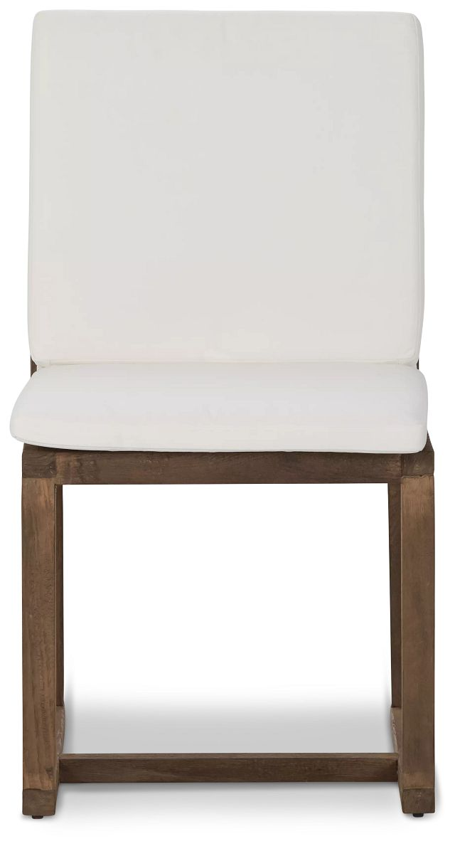 Linear Teak White Side Chair (2)