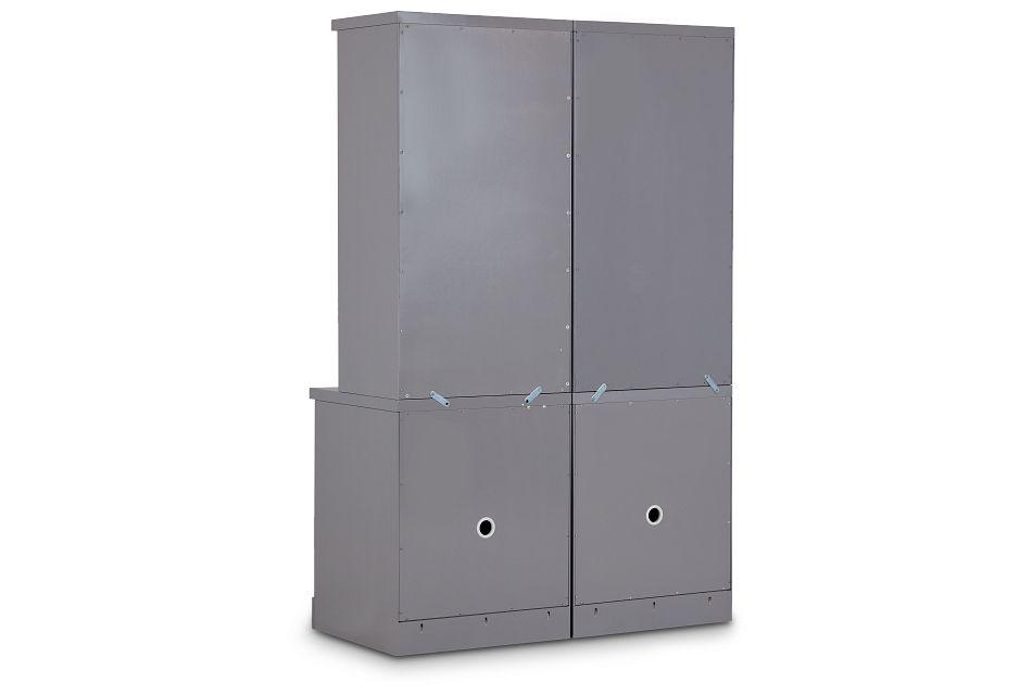 Newport Gray Door Bookcase