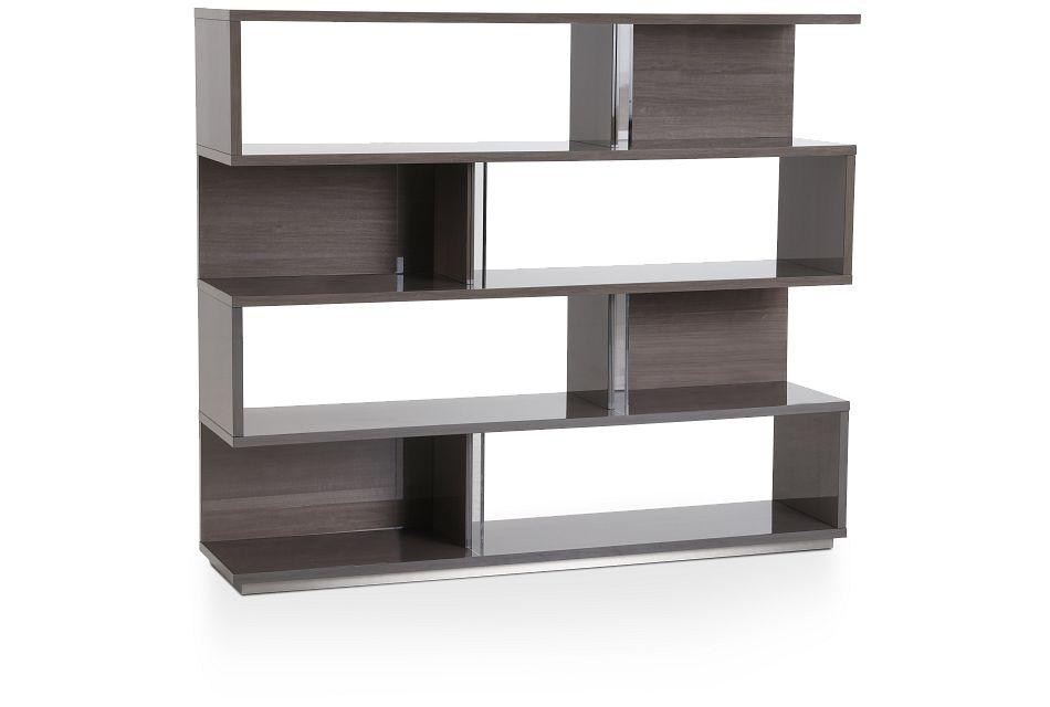 Athena Dark Gray Bookcase,  (2)