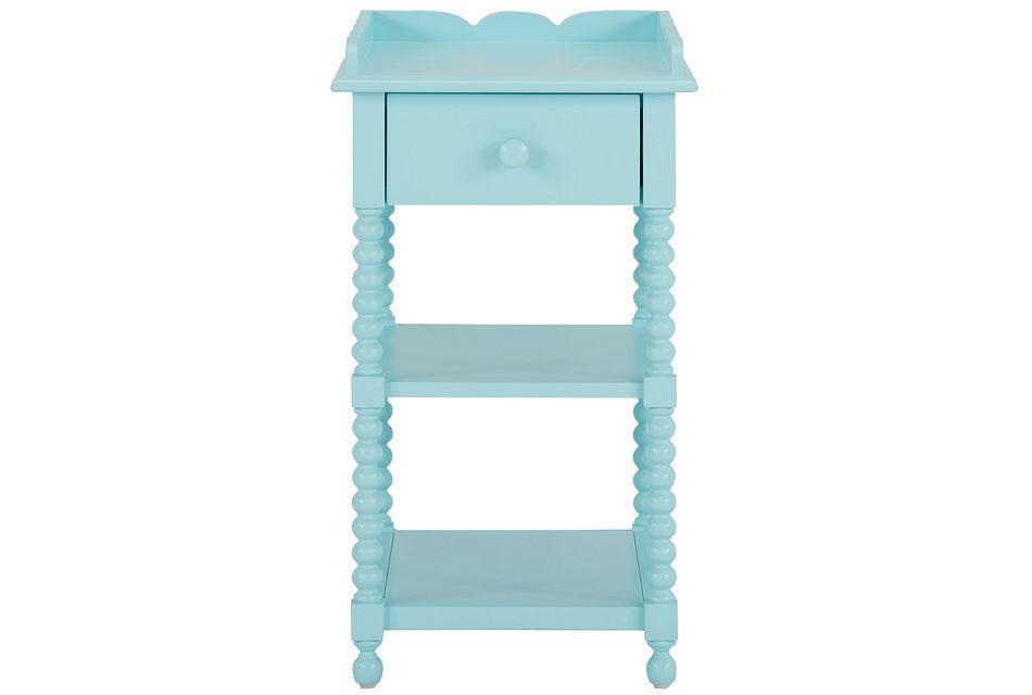Livie Light Blue Nightstand