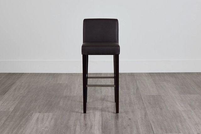 "Cane Dark Brown Micro 30"" Upholstered Barstool (0)"