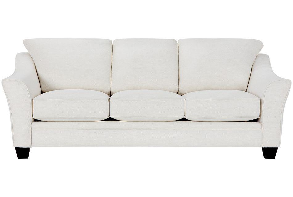 Avery White Fabric Memory Foam Sleeper