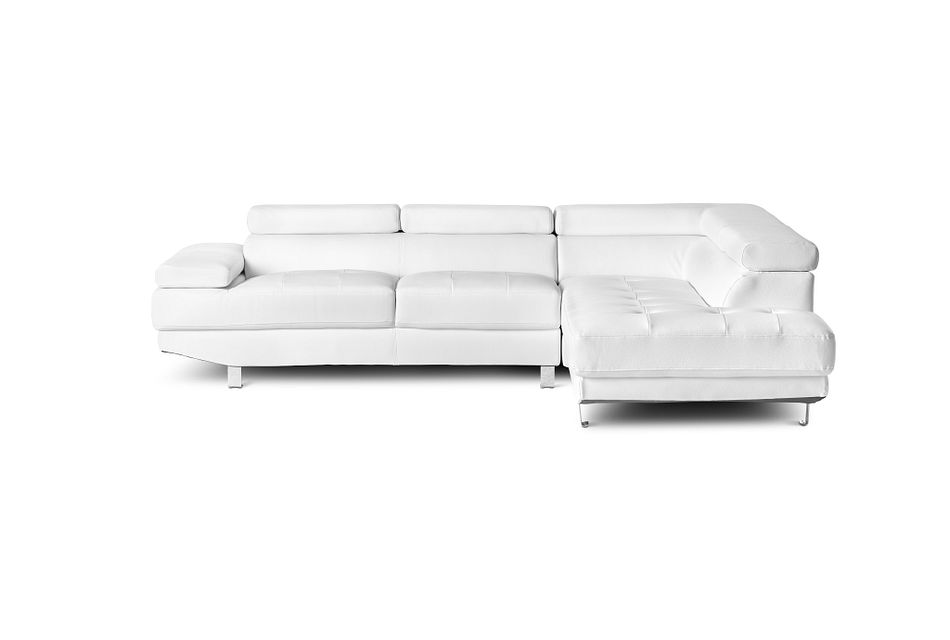 Zane WHITE MICRO Right Chaise Sectional,  (1)