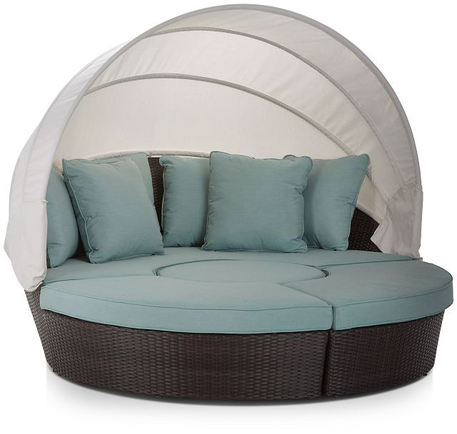 Fina Teal Canopy Daybed (2)