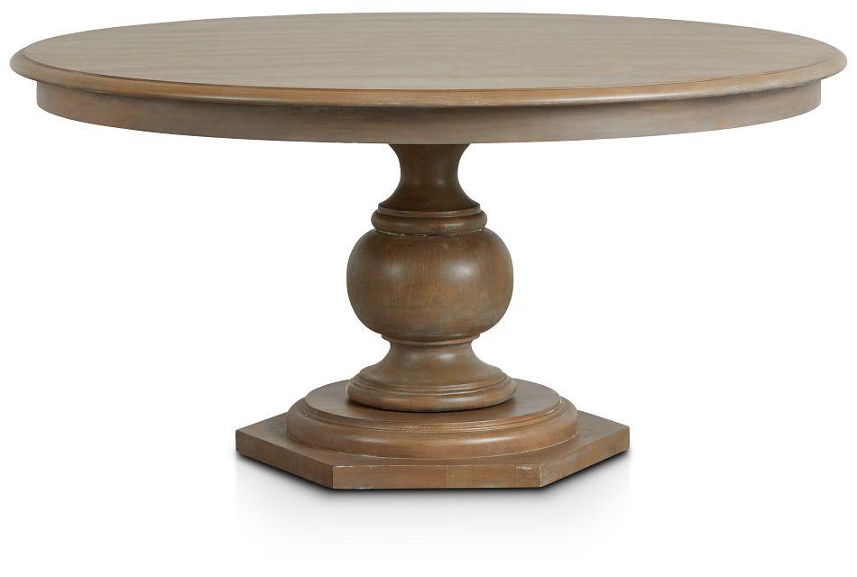 Haddie Light Tone Round Table,  (1)