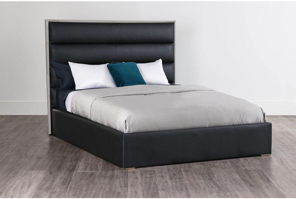 Cortina Black Uph Platform Bed, Queen (0)