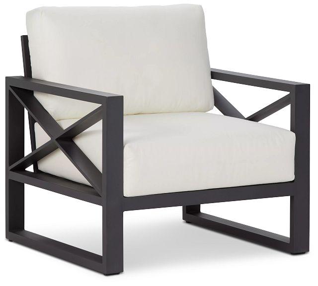 Linear Dark Gray White Aluminum Chair (0)