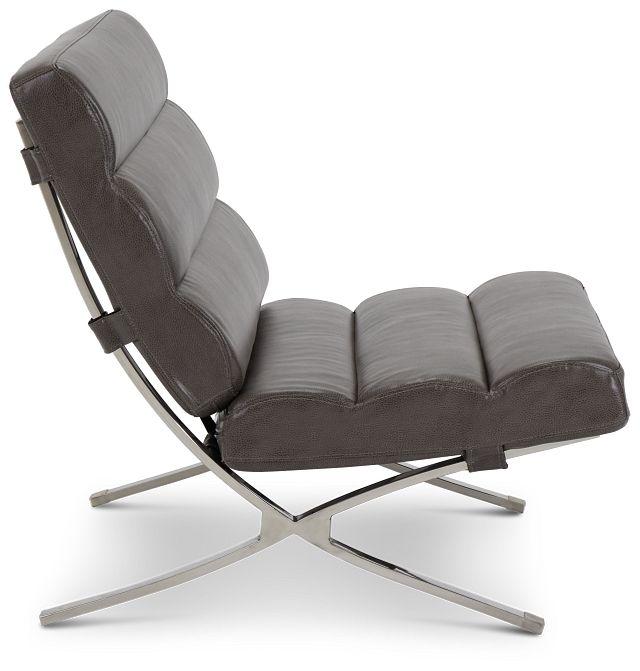 Tatiana Dark Gray Micro Accent Chair (2)