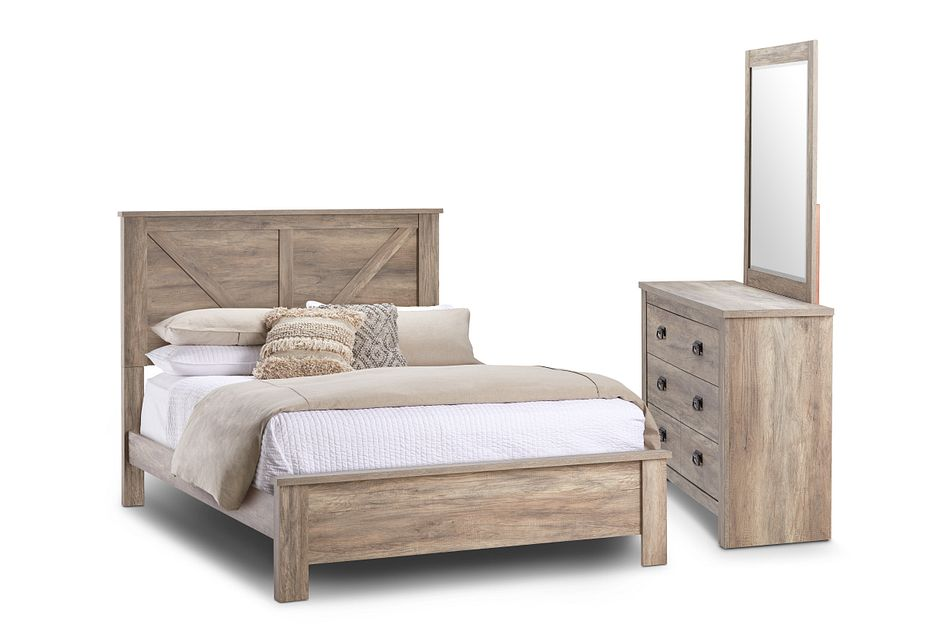 Shelton Light Tone  Panel Bedroom