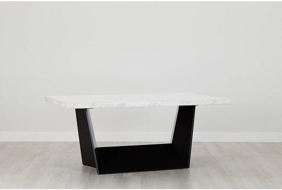 Auburn White Marble Rectangular Table, %%bed_Size%% (0)