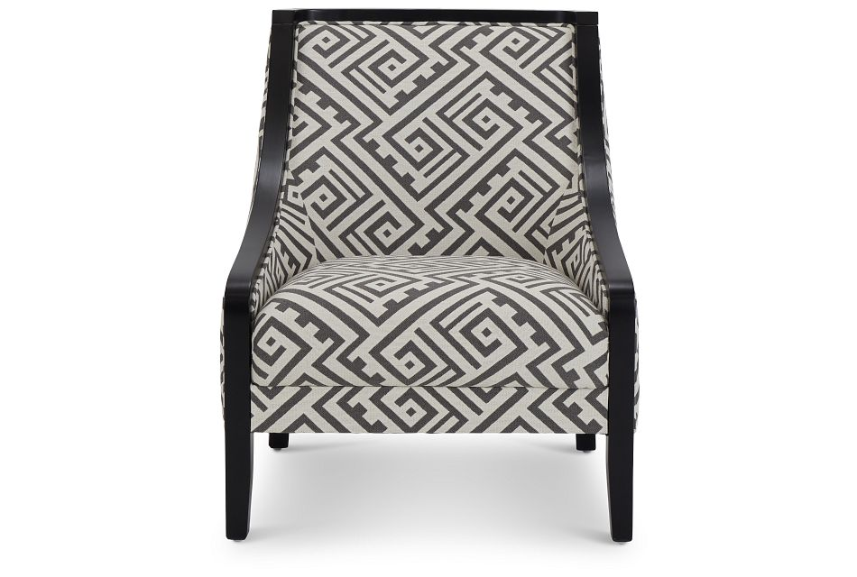 Tribeca2 Multicolored Fabric Accent Chair,  (3)