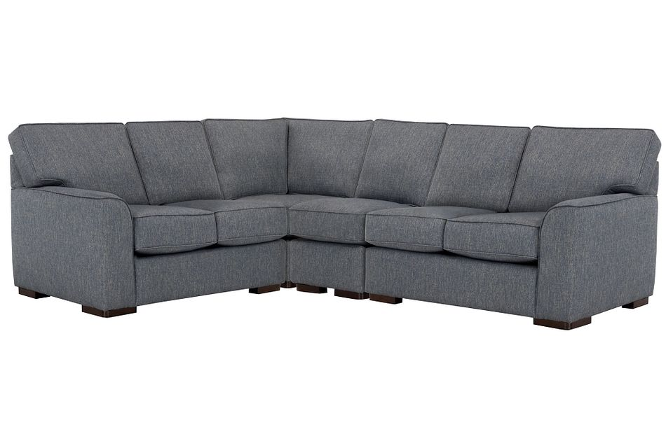 Austin Blue Fabric Large Two-arm Sectional