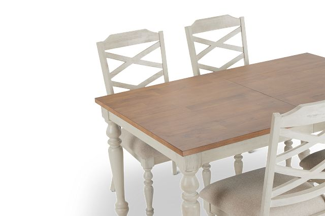 Lexington Two-tone Table & 4 Chairs