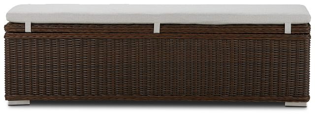 Southport Gray Woven Dining Bench (2)