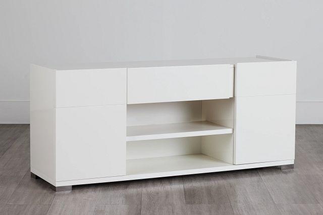 """Santino 65"""" White Tv Stand"""