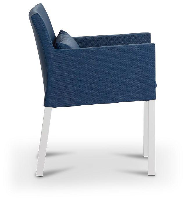 Lisbon Navy Cushioned Chair (1)