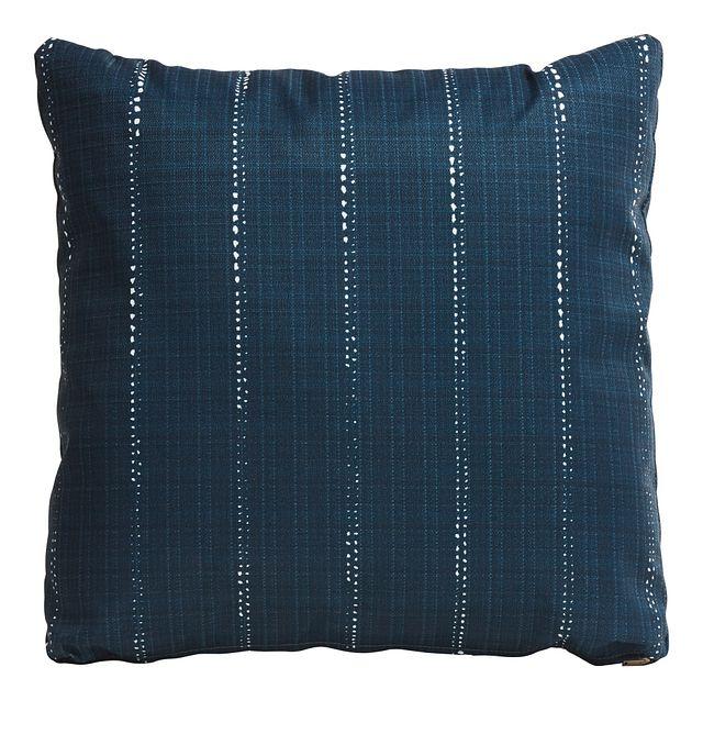 """Carlo Dark Blue 20"""" Indoor/outdoor Accent Pillow (0)"""