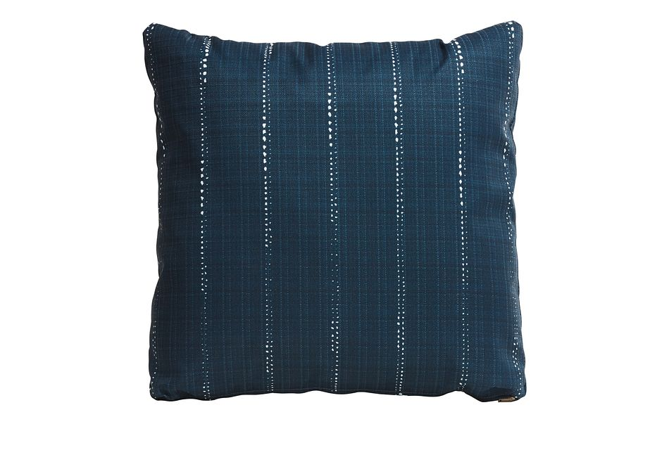 "Carlo Dark Blue 20"" Indoor/outdoor Accent Pillow"
