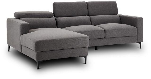 Trenton Dark Gray Fabric Left Chaise Sectional (3)