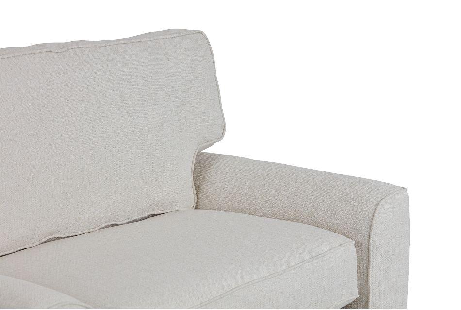 Austin White Fabric Memory Foam Sleeper