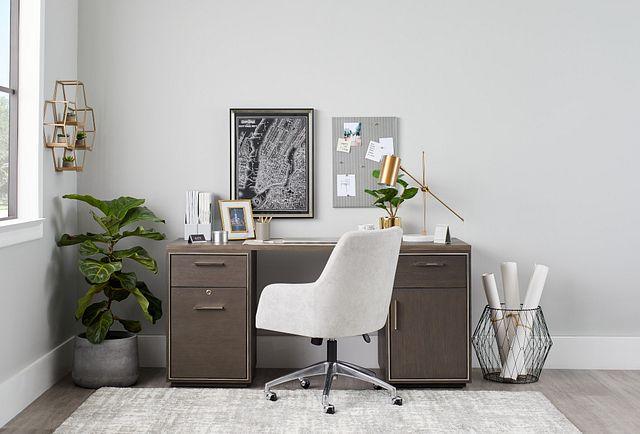 Highline Dark Tone Writing Desk (3)