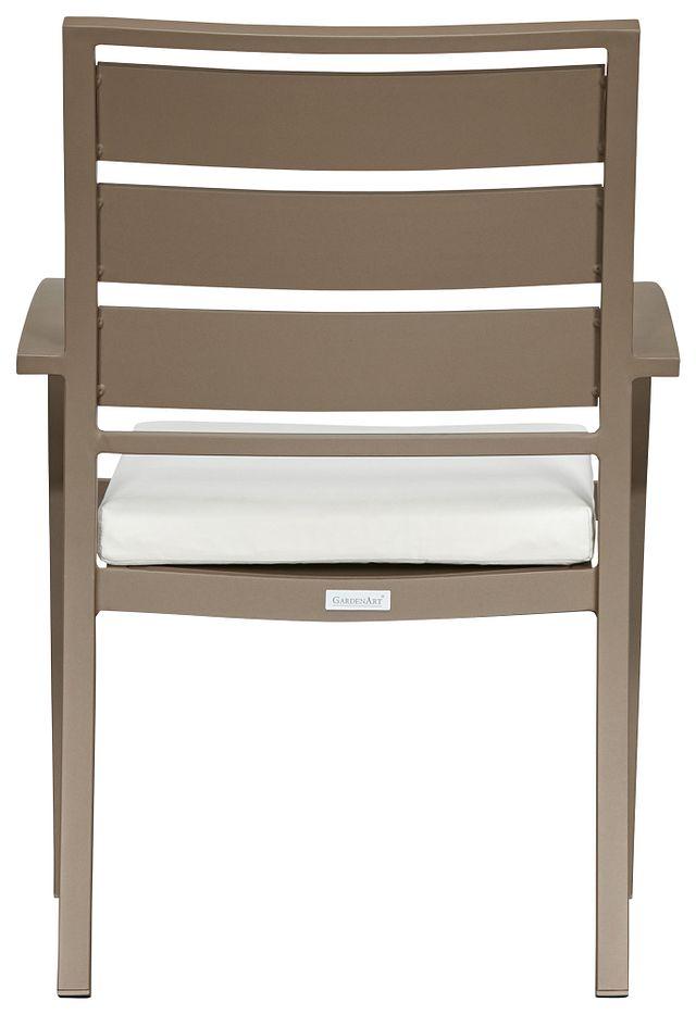 Raleigh White Aluminum Arm Chair (2)
