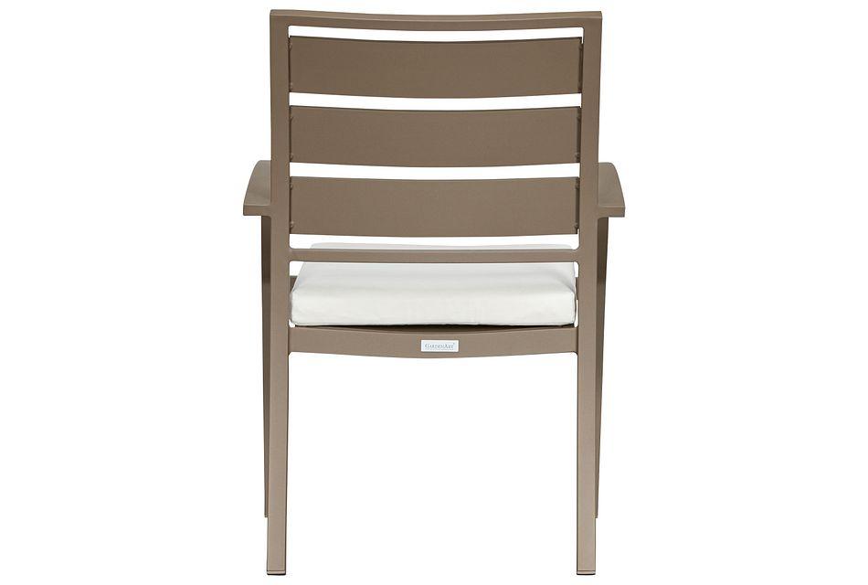 Raleigh White Aluminum Arm Chair