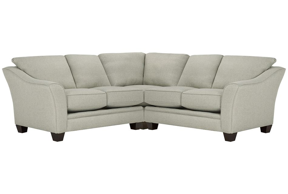 Avery Light Green Fabric Small Two-arm Sectional