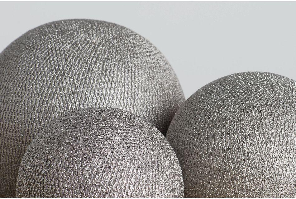 Izar Set Of 3 Silver Balls