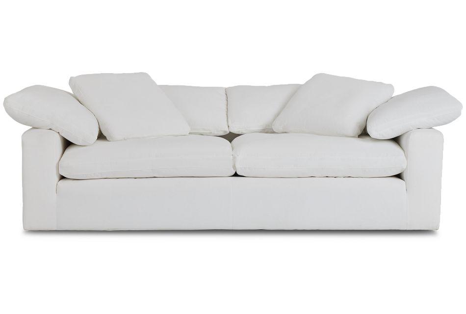 Nixon White Fabric Sofa,  (1)