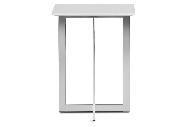 Ponce White Square End Table