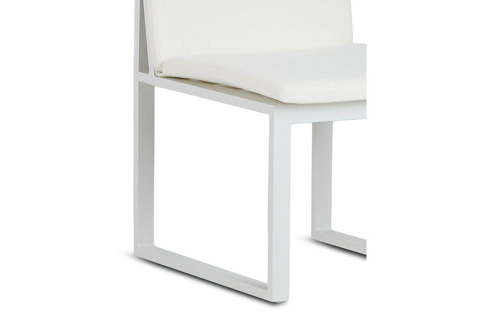 Linear White Aluminum Cushioned Chair
