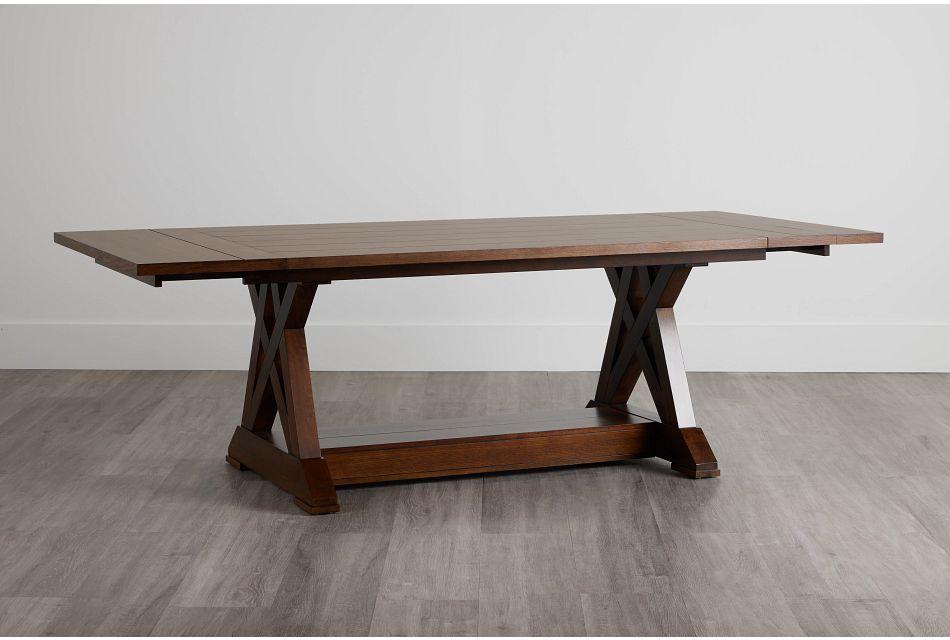 Bloomington Dark Tone Rect Trestle Table,  (0)