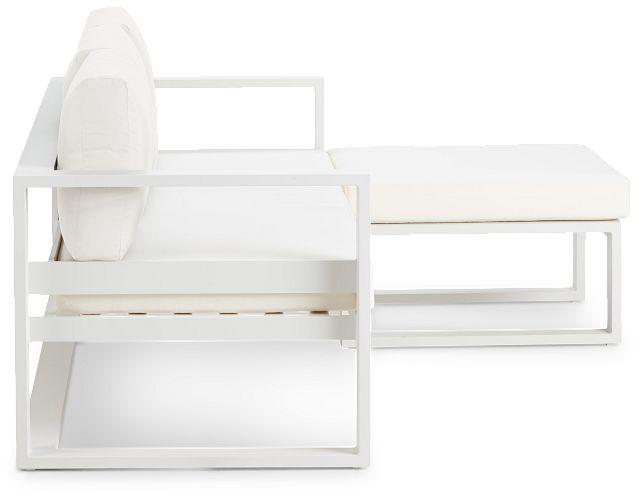 Lisbon White Aluminum Chaise Sectional (0)