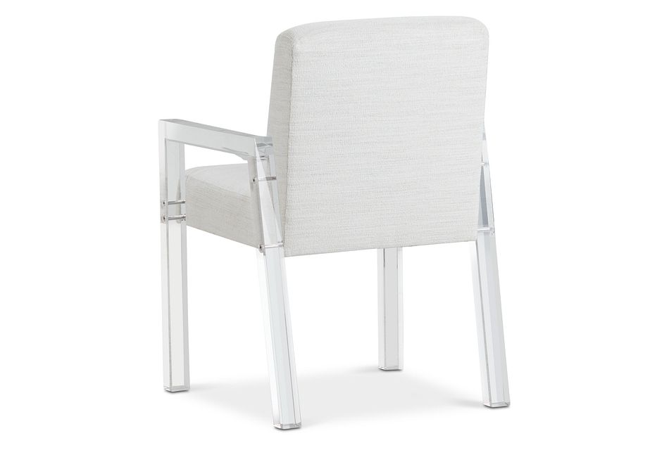 Ocean Drive White Acrylic Upholstered Arm Chair