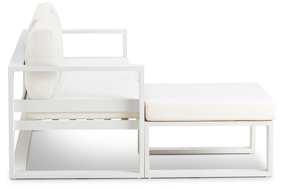 Lisbon White Aluminum Chaise Sectional