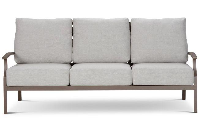 Raleigh Gray Aluminum Sofa